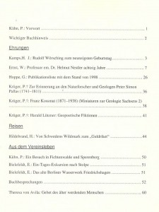 Geohistorica 11-2014-Inhalt