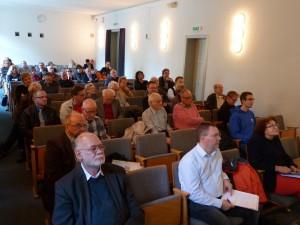 Blick in den Kleinen Saal der Archenhold-Sternwarte während der Veranstaltung; Foto: Gritzner/Bonn