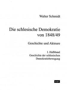 Schlesische Demokratie,<br /><br /><br /><br /><br /><br /> 1. Halbband