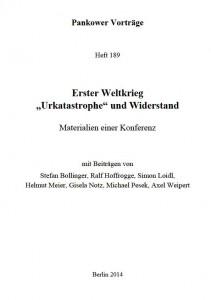 Heft 189 Pankower Vorträge - Titel
