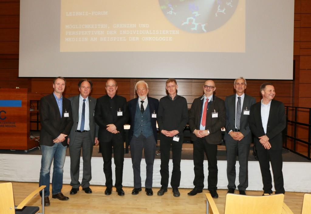 Vortragende und weitere aktiv Teilnehmer: v.l.n.r.: Prof. Volker Haucke, Prof. Gerhard Banse, Prof. Matthias Bräutigam, Prof. Peter Oehme, PD Dr. Martin Janz, Prof. Dirk Roggenbuck, Dr. Jens Hoffmann, Dr. Ulrich Scheller