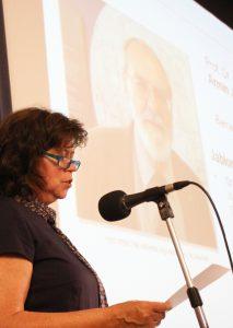 Leibniz-Tag 2017; Vizepräsidentin Dorothee Röseberg stellt die Ausgezeichneten vor