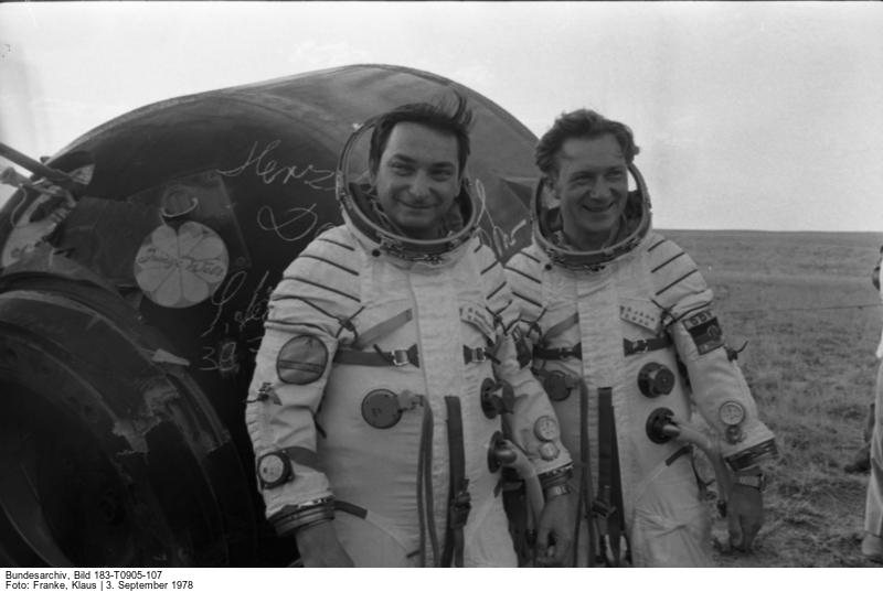 UdSSR, Walery Bykowski, Sigmund Jähn nach Landung